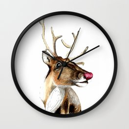 Rudolf the red nosed Reindeer Wall Clock