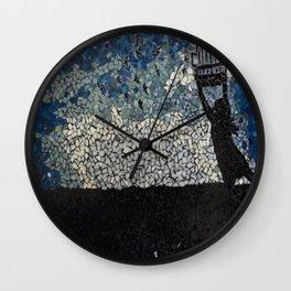 Free Bird  - Glass Mosaic Silhouette Wall Clock