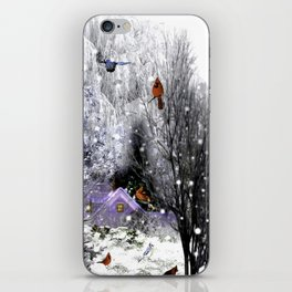 The Birds Of Winter iPhone Skin