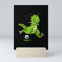 Soccer T-Rex Dinosaur Mini Art Print