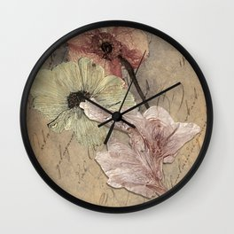 Time is Only Faded Memories Wall Clock