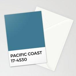 Pacific Coast Pantone Chip • Ocean Blue • California • Half Moon Bay • Sea • Minimal • Mediterranean Stationery Cards