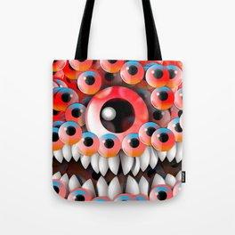 Eyeball Monster Tote Bag