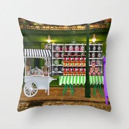 Jam shop Throw Pillow