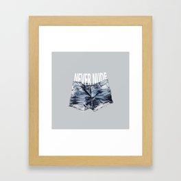 Never Nude Tobias Funke Framed Art Print