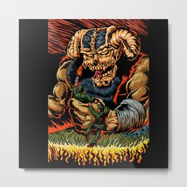 judgment of the devil Metal Print