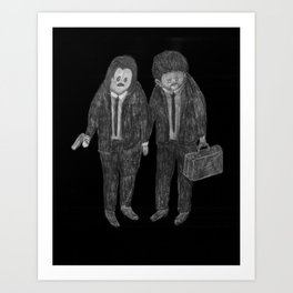 Zombies in my backyard: Pulp Fiction Art Print