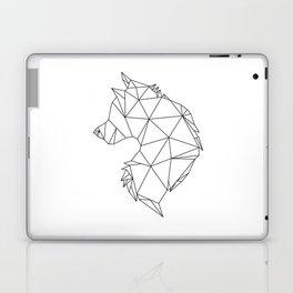 Geometric Wolf (Black on White) Laptop & iPad Skin