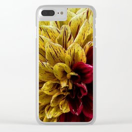 Yellow Red Clear iPhone Case