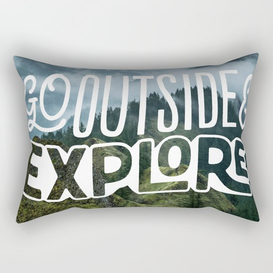 Go outside & explore Rectangular Pillow