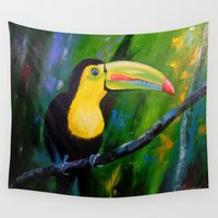 toucan Wall Tapestries featuring Toucan by OLHADARCHUK