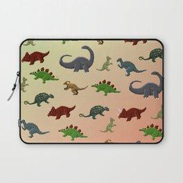 Herbivorous Dinosaurs Pixel Pattern Laptop Sleeve