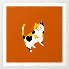 Calico Cat Art Print