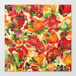 Peppers and Tomatoes Canvas Print