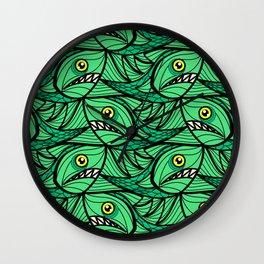 Escher Fish Patter XII Wall Clock