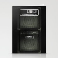rock and roll Stationery Cards featuring Rock N´Roll amplifier by Nicklas Gustafsson