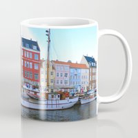 copenhagen Mugs featuring Copenhagen by Jeff Umotoy