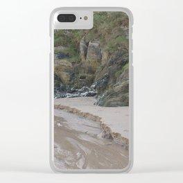 Cornwall Beach Photo 1839 Quartz Rock Wild Garden with Stream Clear iPhone Case