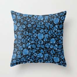Barca Dots Pattern blue/black Throw Pillow
