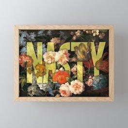 Nasty Framed Mini Art Print