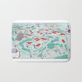 EMORY University map ATLANTA GEORGIA Bath Mat