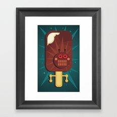 Ice-cream. Framed Art Print