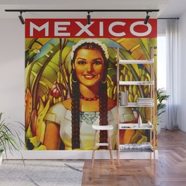 Vintage Bountiful Mexico Travel Wall Mural