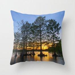 Sunset at Stumpy Lake Throw Pillow