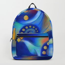 Anabressia - blue spiral planet Backpack