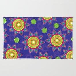 Moroccan Flower Purple Rug