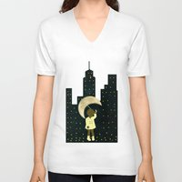 starry night V-neck T-shirts featuring Starry Night by Bluepress