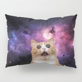 Space Selfie Cat Pillow Sham