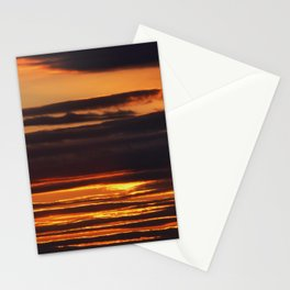 Golden Linings Sunset Stationery Cards