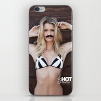 hot fuzz iPhone & iPod Skins featuring Mustache Movember Wood from Hot Fuzz Babes in Mustache by HOT FUZZ Babes In Mustache