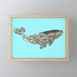 The 52 hertz whale Framed Mini Art Print