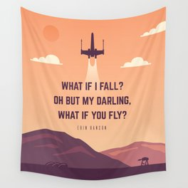 X wing Wall Tapestry