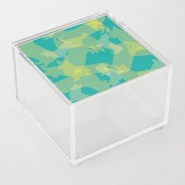 Blue & Yellow Corgi Pattern Acrylic Box