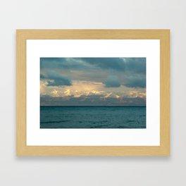 Sunrise at the lake Framed Art Print