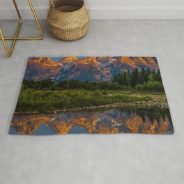 Grand Tetons Lake Reflections - Wyoming Rug