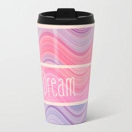 Dream Girly Pink Purple Pastel Waves Stripes  Travel Mug