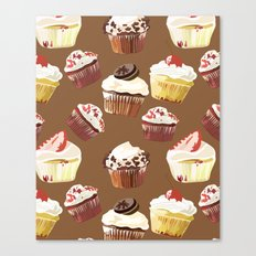 Cup cakes patterns Canvas Print