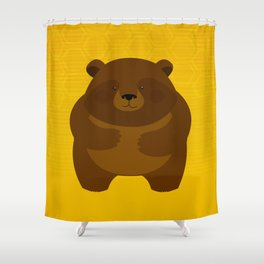 Bees and Bear by Friztin Shower Curtain