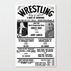#2 Memphis Wrestling Window Card Canvas Print