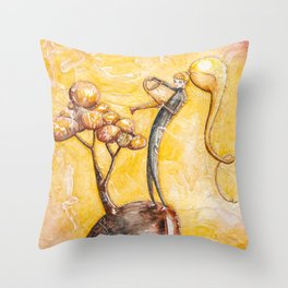 Homecoming - Watering my Tree Throw Pillow