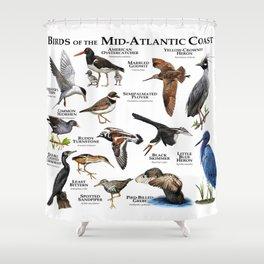 Birds of the Mid-Atlantic Coast Shower Curtain