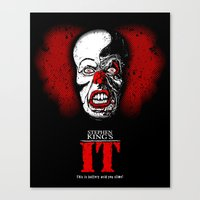 pennywise Canvas Prints featuring Pennywise by Beery Method