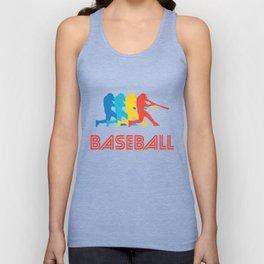 Baseball Batter Retro Pop Art Graphic Unisex Tank Top