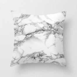 Marble - Gray Throw Pillow