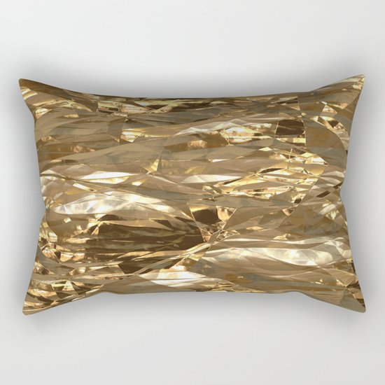 Gold Metal Rectangular Pillow
