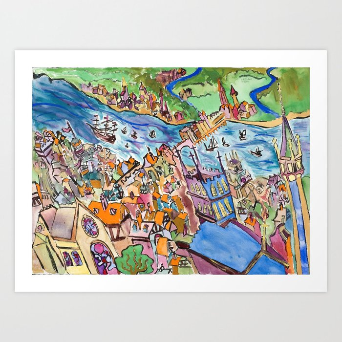 Medieval City Art Print